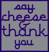 Say Cheese and Thank You Logo
